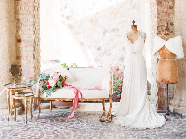 The best wedding dress for your body type jenny packham wedding gown on dress form still life junglespirit Images