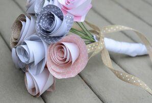 DIY Pastel Paper Flower Bridal Bouquet