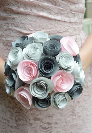 DIY Pastel Paper Flower Bridesmaid Bouquet