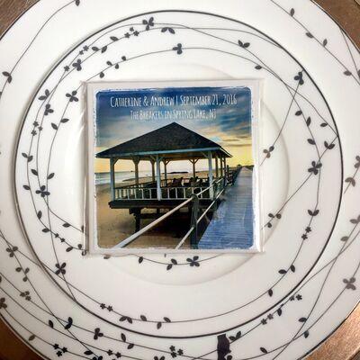 Coaster Life:  Tile Coaster Favors w/ Local Photo