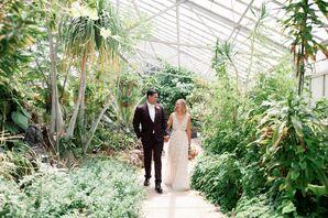 Bride and Groom Portraits at Dos Pueblos Orchid Farm in California
