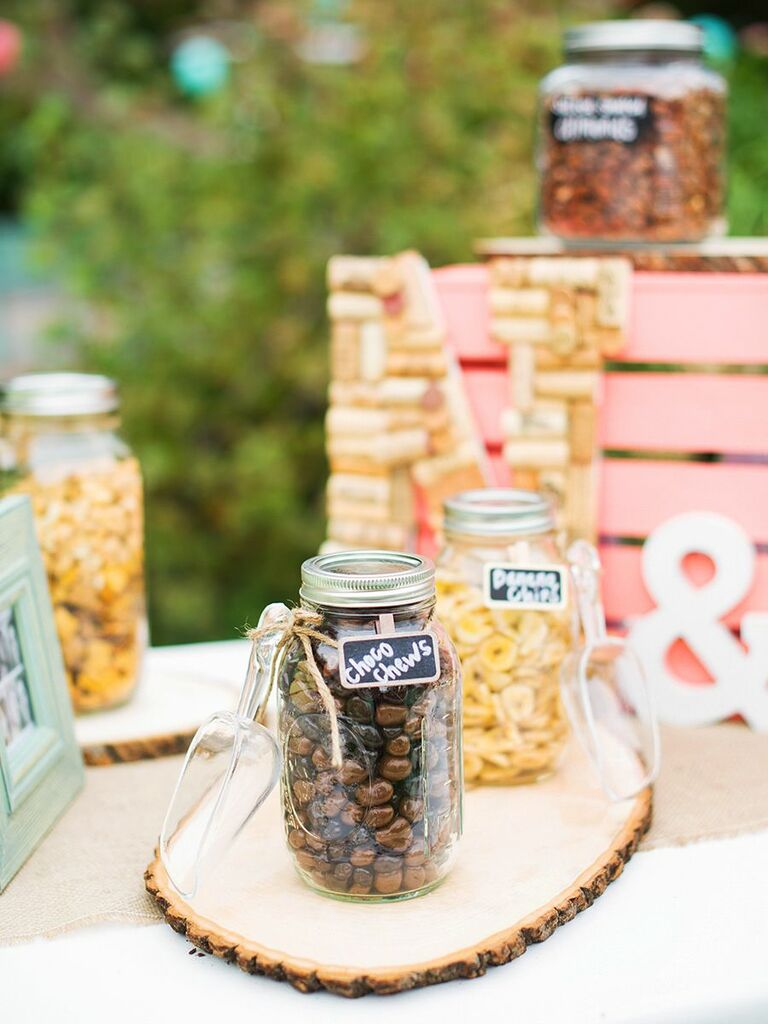 Customize Your Candy Bar With Some Diy Accents Fill Mason Jars The Of Choice Fun Tags