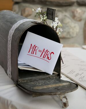 Mr. and Mrs. Letter in Rustic Mailbox
