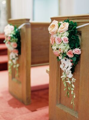 Rose, Orchid and Hydrangea Aisle Markers