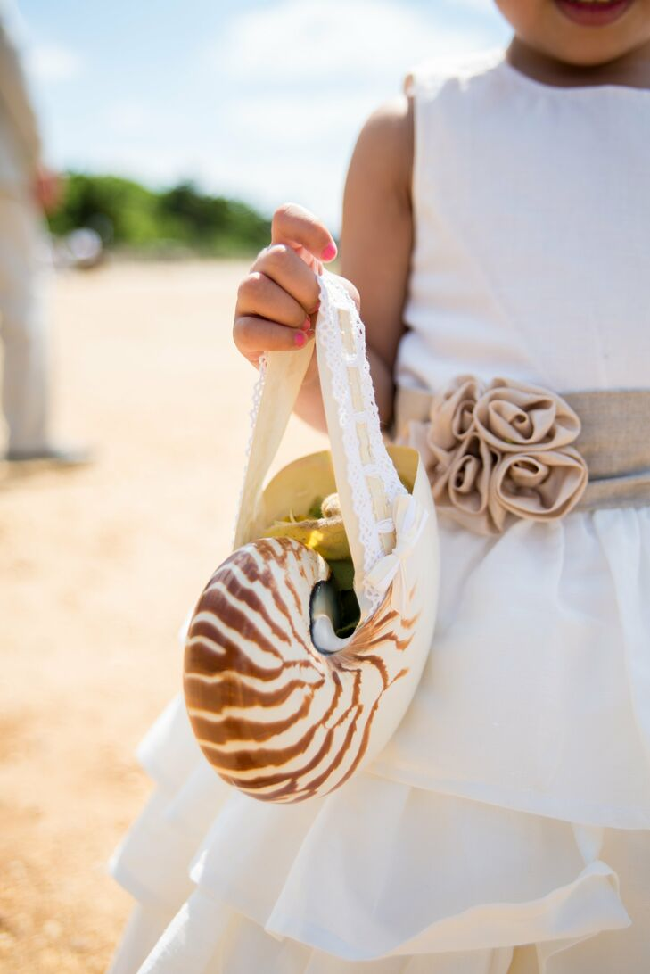 Chambered Nautilus Shell and Flower Girl