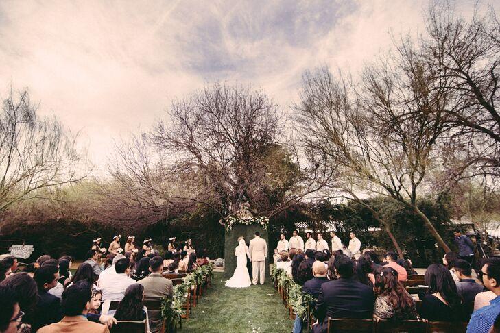 Bohemian Wedding Ceremony at Whispering Tree Ranch