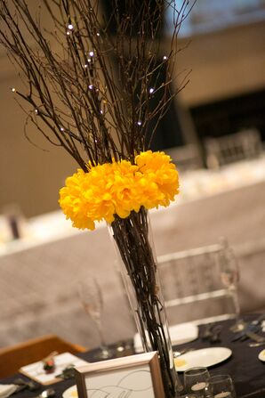 The Lightly Lit Tree Branch Centerpieces