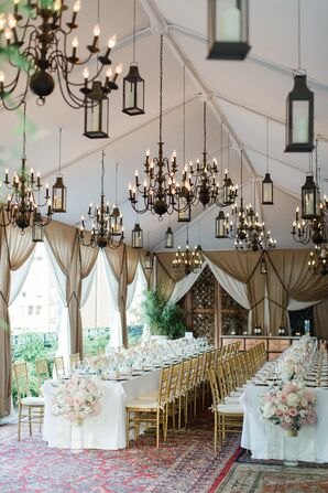 Romantic NoMad Hotel Rooftop Reception