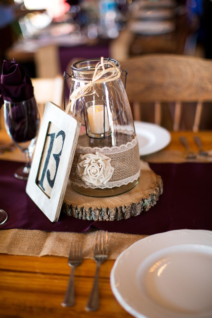 rustic mason jar candle centerpiece rh theknot com diy chalkboard mason jar candle centerpiece