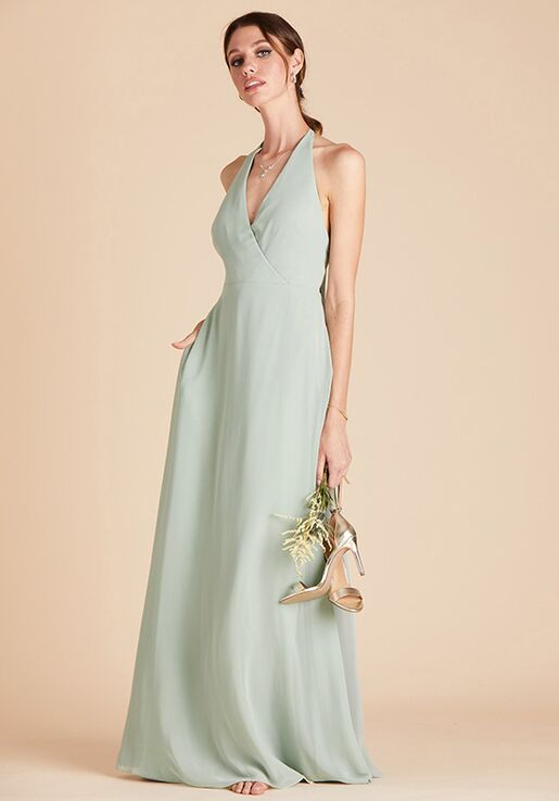 Birdy Grey Moni Convertible Dress in Sage Halter Bridesmaid Dress