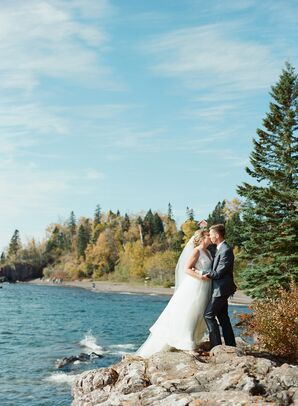 Couple On Lake Superior at Lutsen Resort in Minnesota