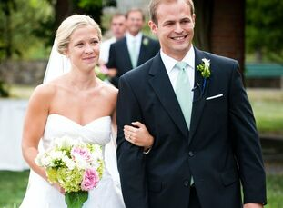 The Bride Jeanne Hayes, 26, an attorney The Groom Drew Barber, 26, an attorney The Date August 14  Jeanne and Drew colored their country-club-chic wed