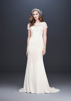 David's Bridal Galina Style WG3927 Sheath Wedding Dress