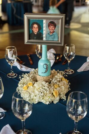 Hydrangea and Baby's Breath Centerpieces