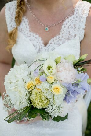 Pastel Bouquet With Peonies and Hydrangeas