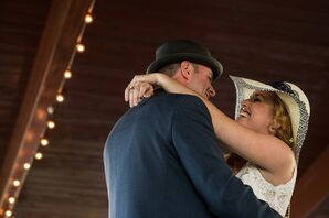 First Dance at Casual Bohemian Wedding