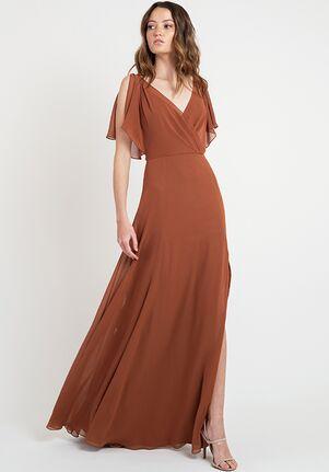 Jenny Yoo Collection (Maids) Hayes V-Neck Bridesmaid Dress