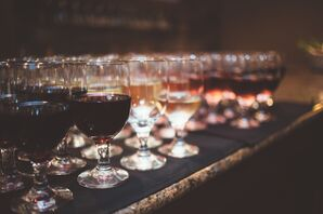 Variety of Wines at the Reception