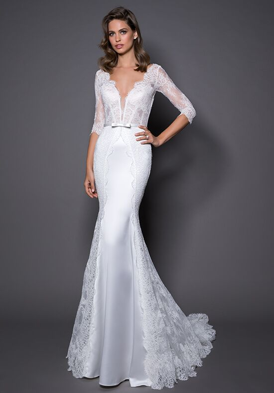 Love by pnina tornai for kleinfeld 14564 wedding dress the knot love by pnina tornai for kleinfeld 14564 sheath wedding dress junglespirit Gallery