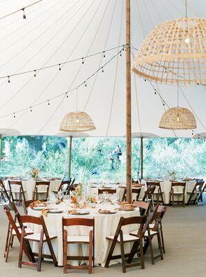 Tented Boho Reception at The Greenhouse at Driftwood