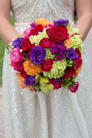 Colorful Rose, Hydrangea, Dahlia Ranunculus Bouquet