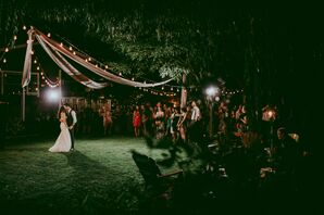 Outdoor Backyard Wedding Reception