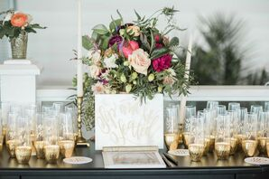 Stemless Champagne Flute Escort Card Display