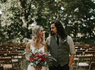 Cheyenne Stucky (20 and a teacher and photographer) and Colton Lowe (23 and a biomedical engineering graduate student) married at a local produce farm