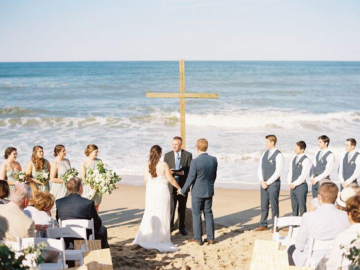 Simple, Romantic Beach Wedding Ceremony