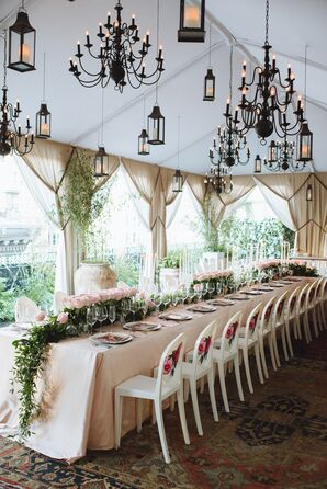 Whimsical Lantern and Candelabra Canopy