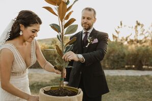 Tree Planting Ceremony During Wedding