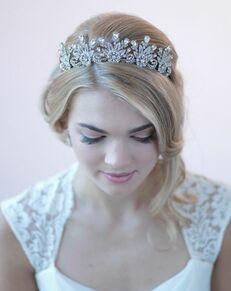 Dareth Colburn Audrey Vintage Bridal Crown (TI-3270) Silver Tiara