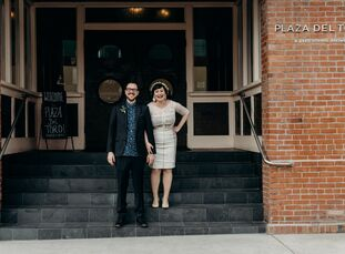 Andrea Tichy and Daniel Muck hosted a modern-industrial wedding at Plaza Del Toro in Portland, Oregon. The informal ceremony included heartfelt vows,