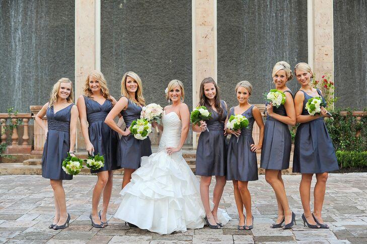 Dark-Gray Bridesmaid Dresses