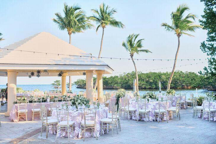 Outdoor Reception at Ocean Reef Club in Key Largo, Florida