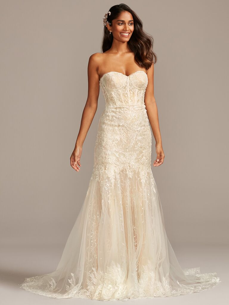 Melissa Sweet strapless mermaid wedding dress