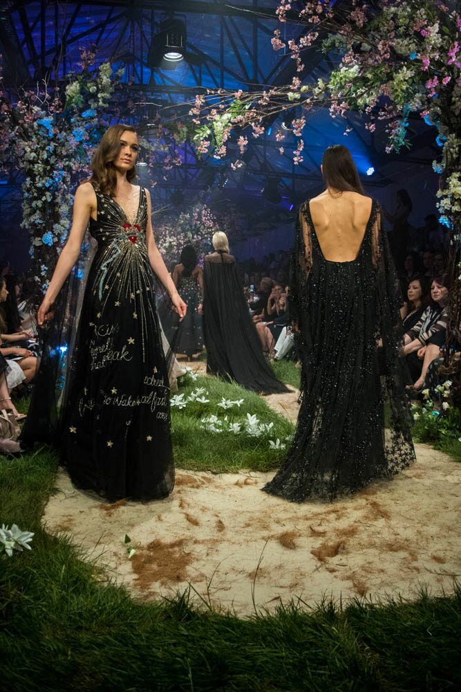 Paolo Sebastian Disney gowns black gowns