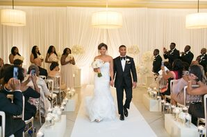 Glam Couple's Traditional Recessional at Ceremony