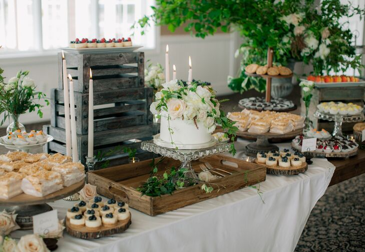 Dessert Table with Wedding Cake and Pastries