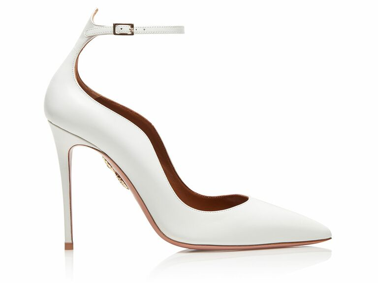 Aquazzura white leather wedding shoe
