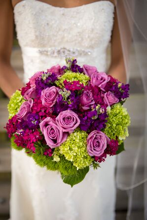 Rose, Viburnum, Hydrangea and Stock Bouquet