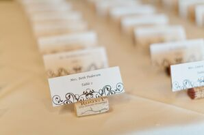 Formal Wine Cork Escort Cards