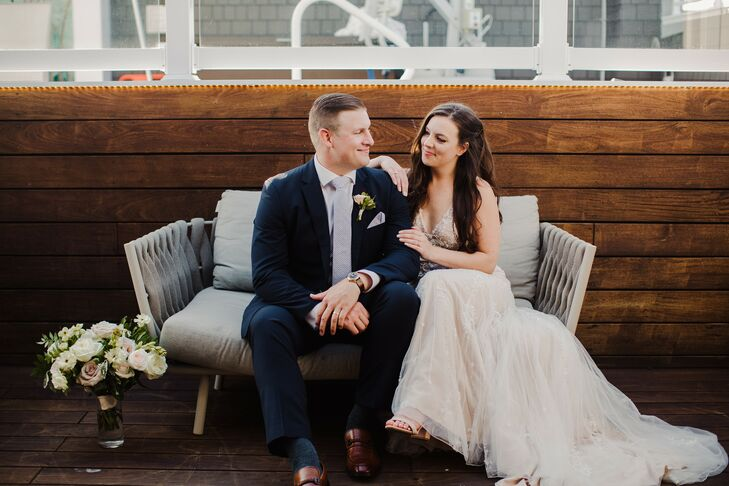 "Kelsey always wanted ""a beach wedding, something very romantic and whimsical,"" so she and Timothy decided to tie the knot close to the water at The Re"