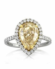 Mark Broumand Glamorous Pear Cut Engagement Ring