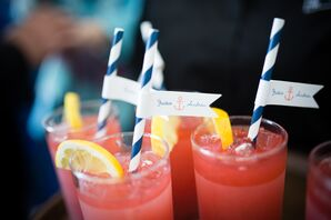 Signature Cocktails with Personalized Straw Tags