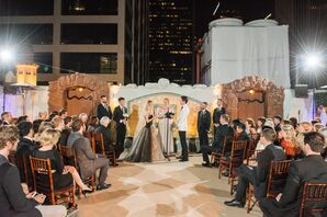 Oviatt Penthouse Rooftop Wedding Ceremony Vows