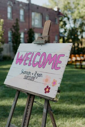 DIY Ceremony Welcome Sign in Missouri