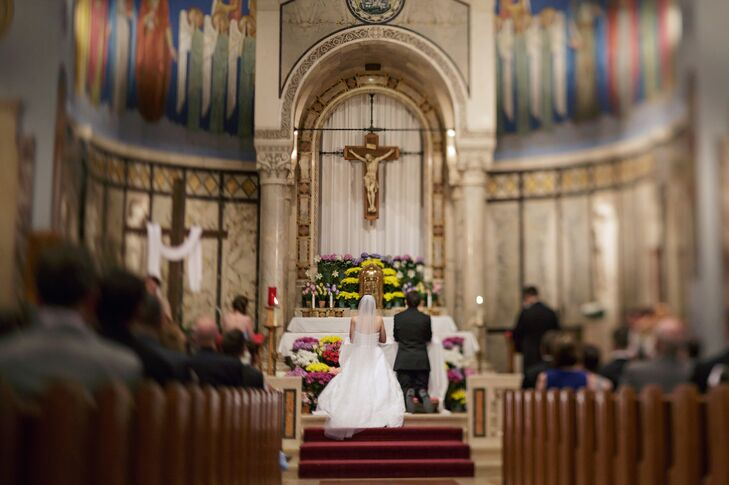 Ceremony at the Assumption Church in Bellevue