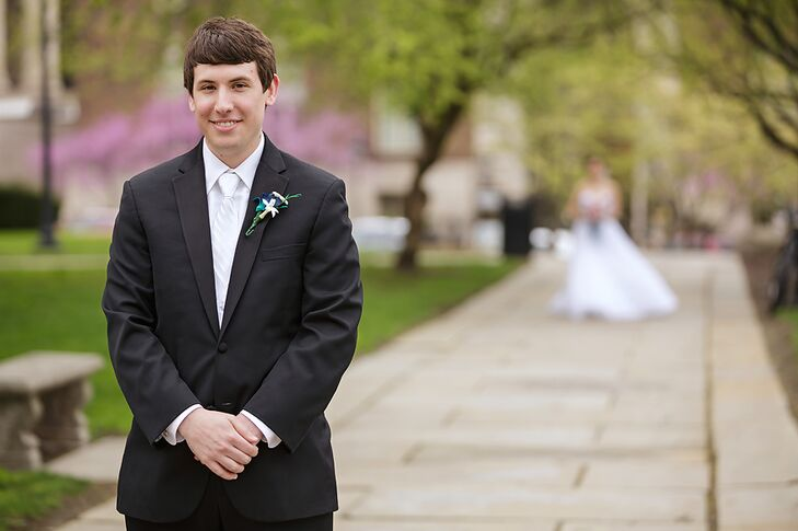 Groom in a White Tuxedo and White Tie