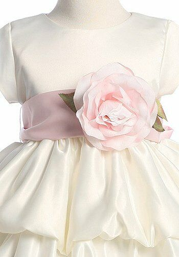 Pink Princess BL204 Ivory Flower Girl Dress